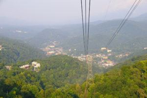 Beautiful views from the Ober Gatlinburg Aerial Tramway.