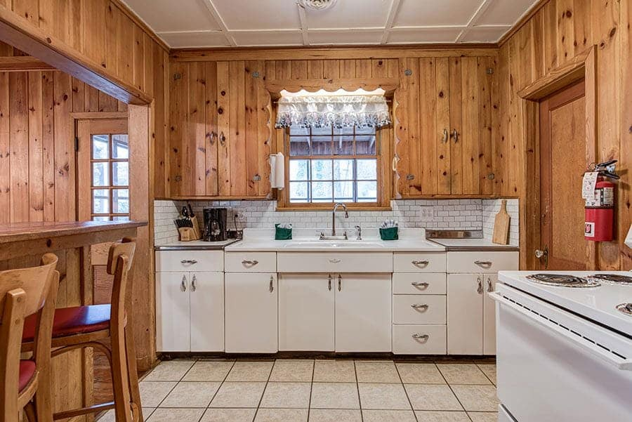 small kitchen in gatlinburg cottage