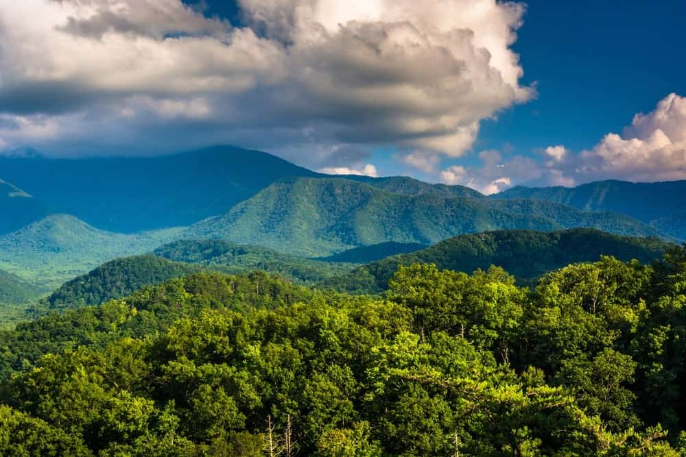 Stunning mountain view in Gatlinburg.