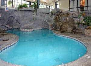indoor pool in hotel in downtown gatlinburg