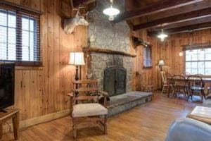 Inside of cabin in downtown Gatlinburg by Sidney James