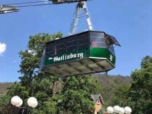 Scenic photo of the Ober Gatlinburg Aerial Tramway.