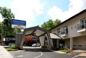 front of sidney james hotel in gatlinburg